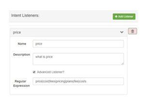 chatbot intent listeners